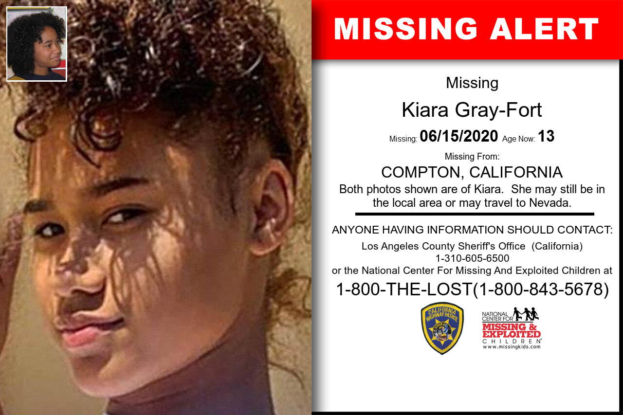 Kiara_Gray-Fort missing in California