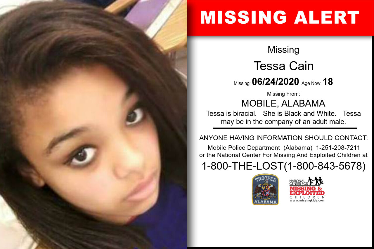 Tessa_Cain missing in Alabama