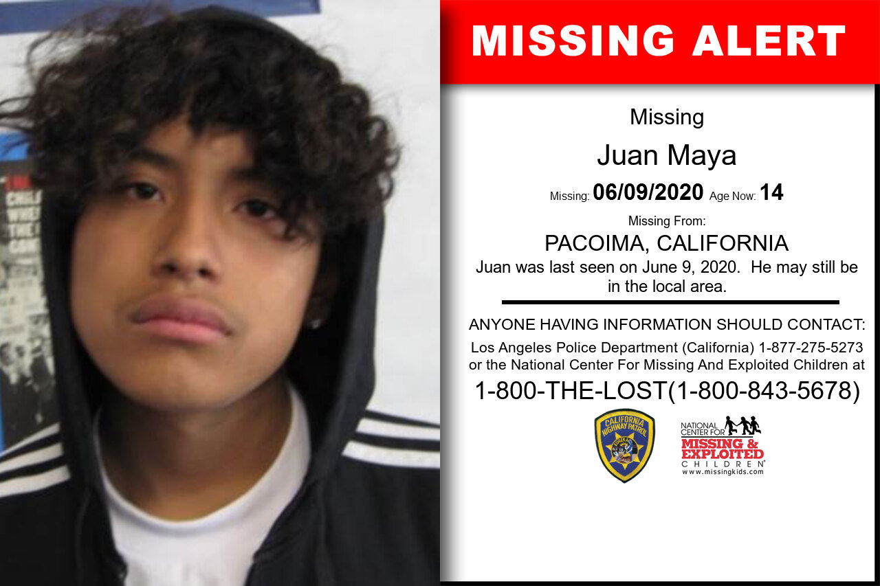Juan_Maya missing in California