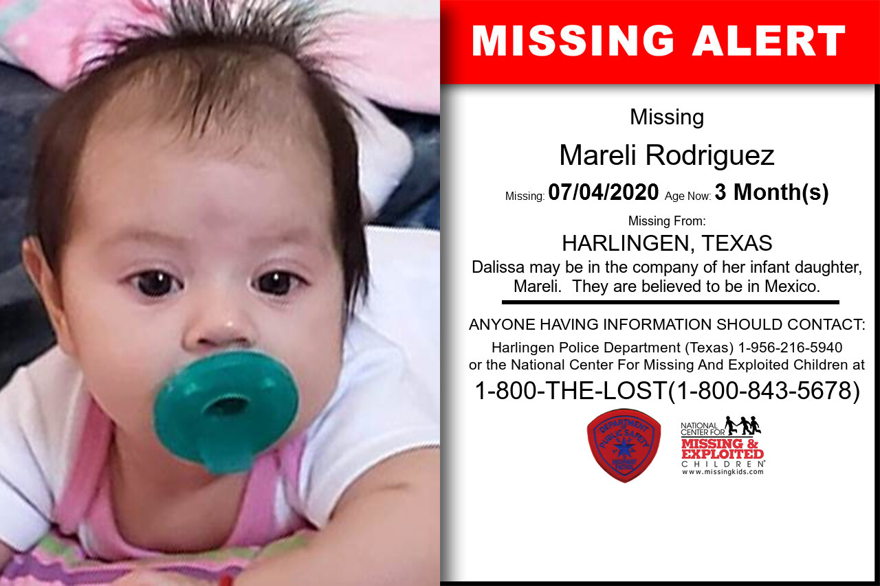 Mareli_Rodriguez missing in Texas