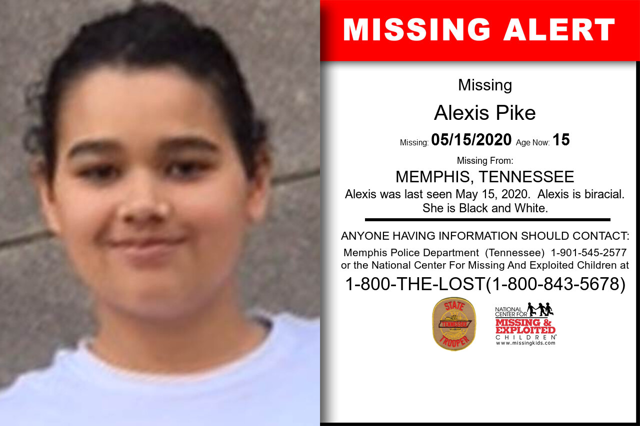 Alexis_Pike missing in Tennessee