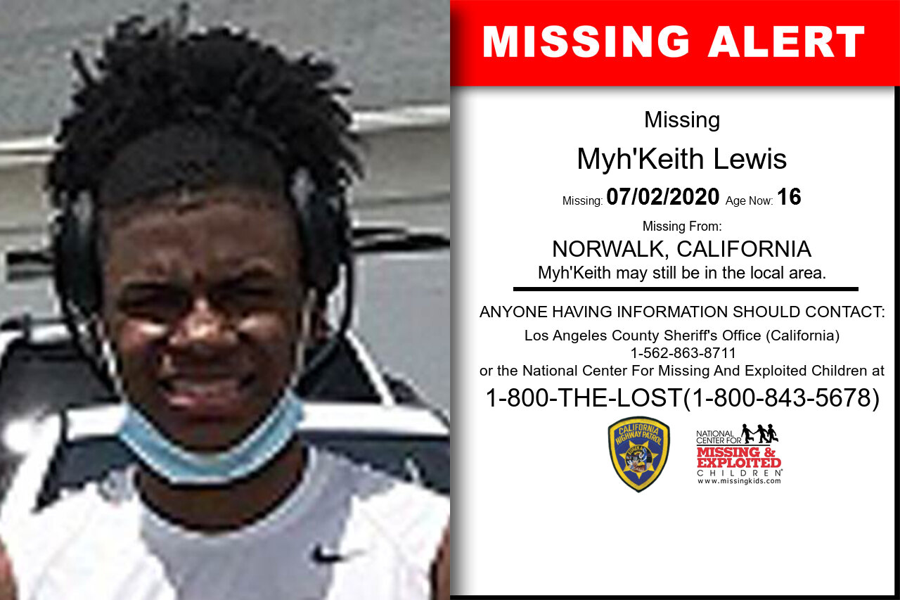Myh'Keith_Lewis missing in California