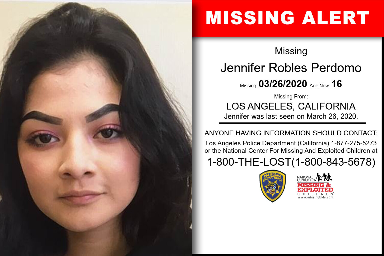 Jennifer_Robles_Perdomo missing in California