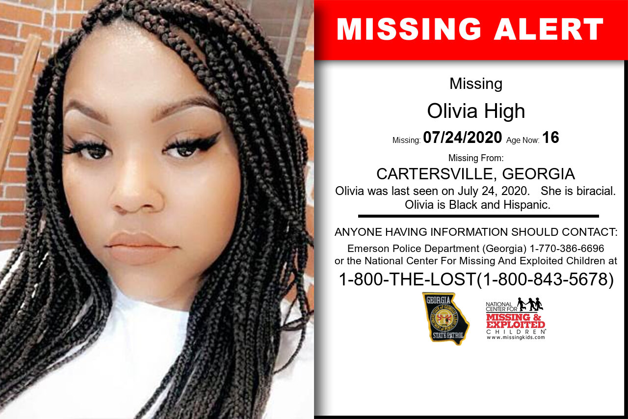 Olivia_High missing in Georgia