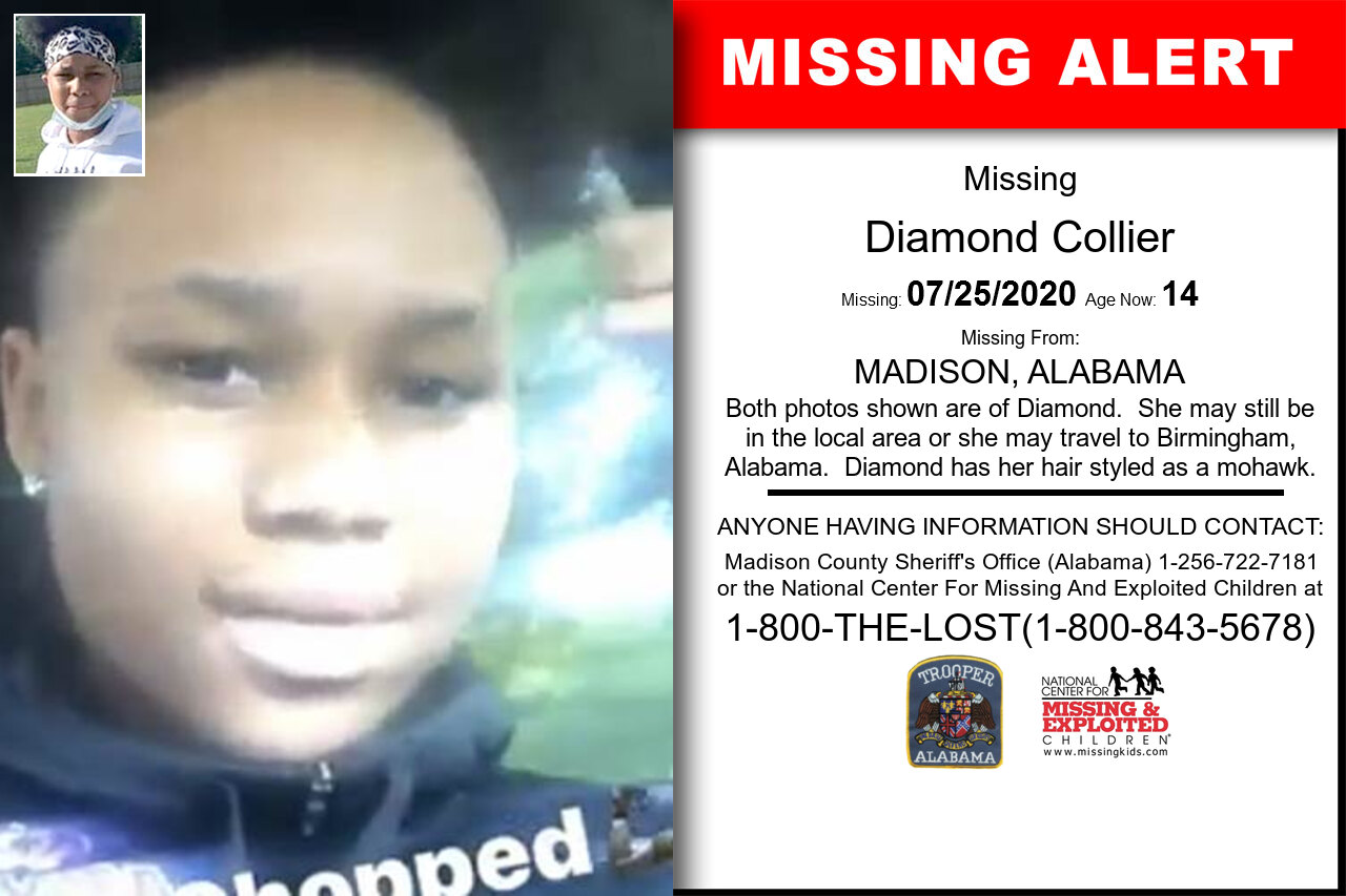 Diamond_Collier missing in Alabama