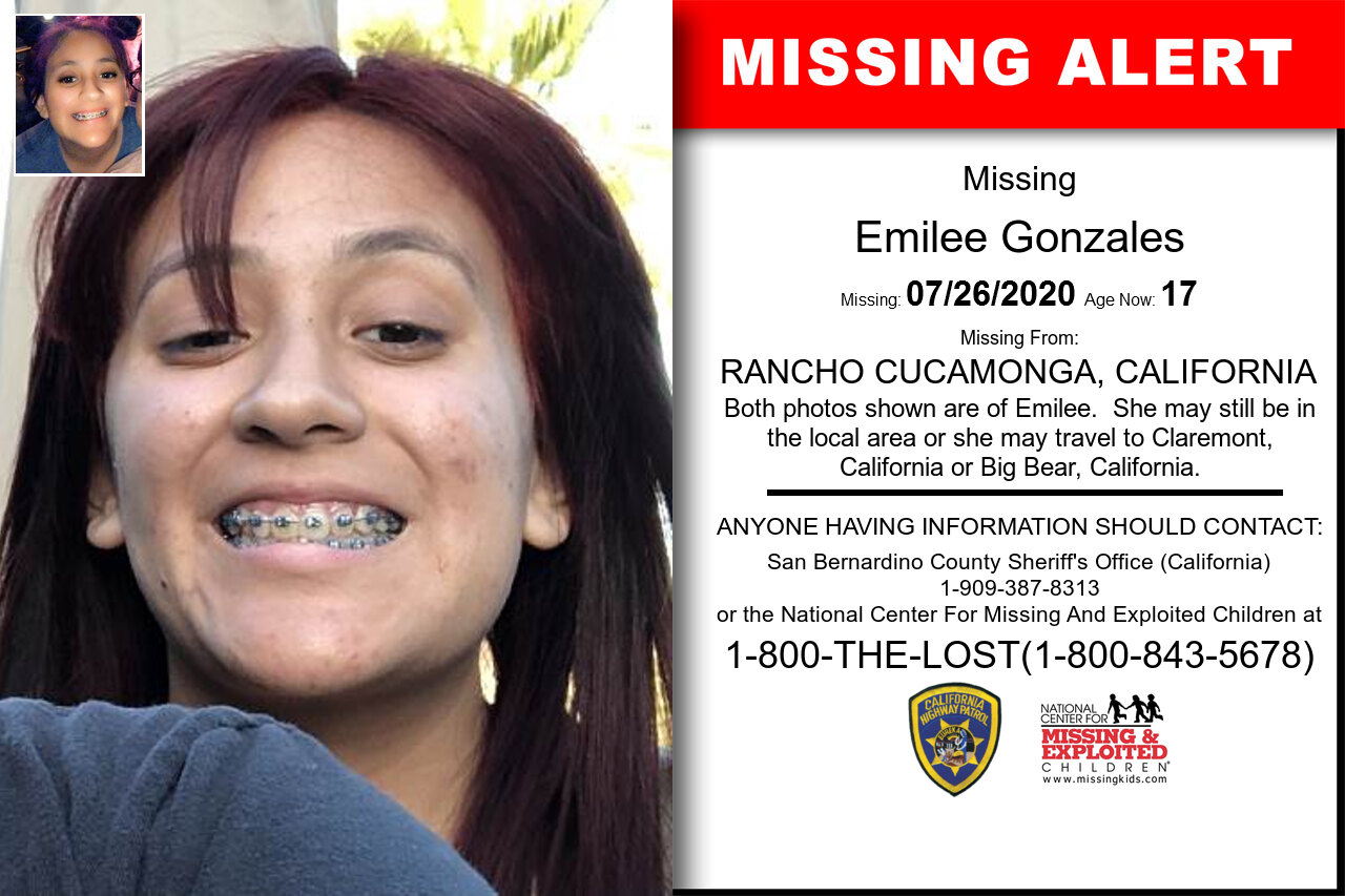 Emilee_Gonzales missing in California
