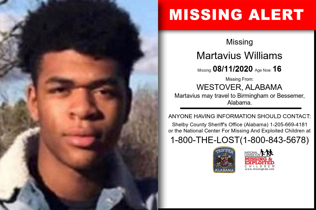 Martavius_Williams missing in Alabama