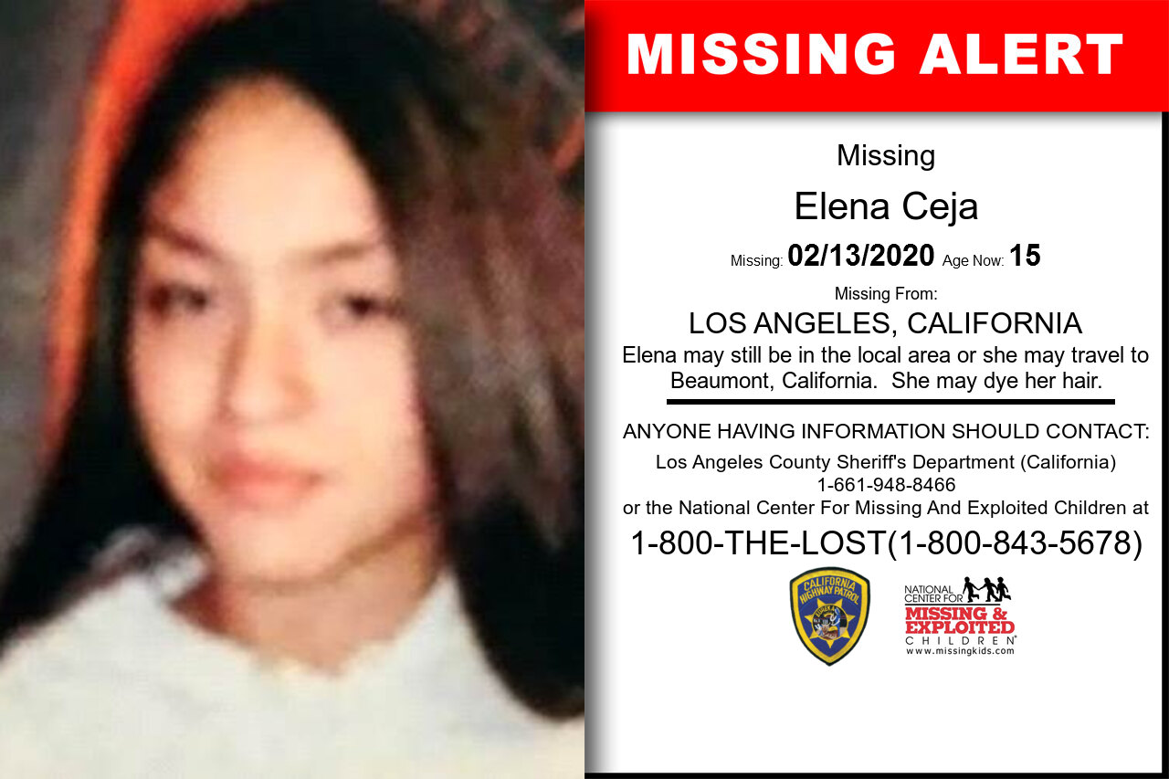 Elena_Ceja missing in California