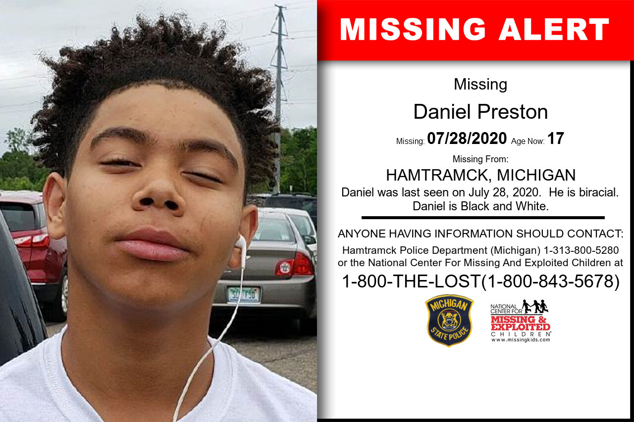 Daniel_Preston missing in Michigan