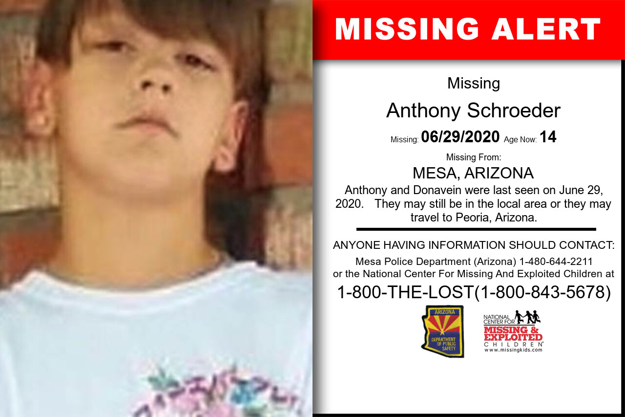 Anthony_Schroeder missing in Arizona
