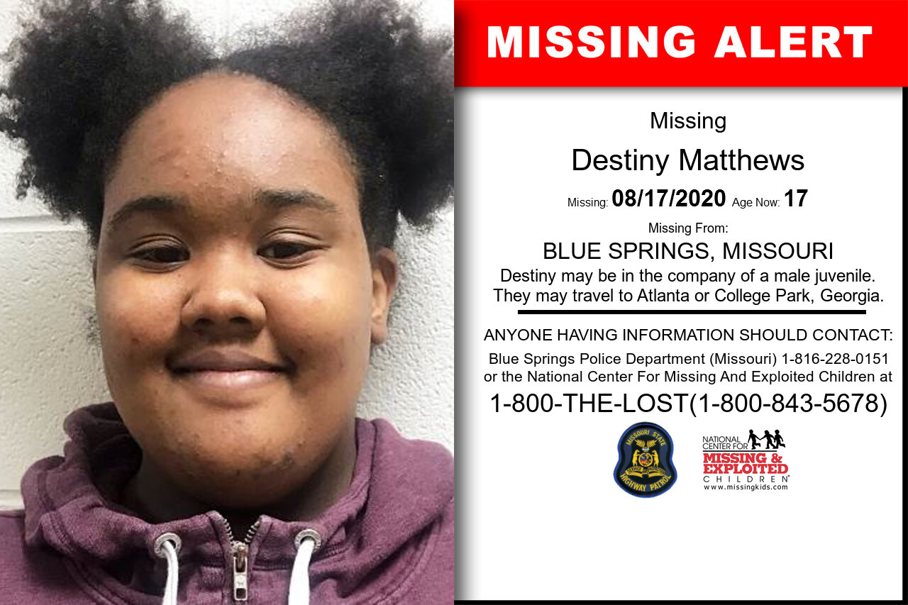 Destiny_Matthews missing in Missouri