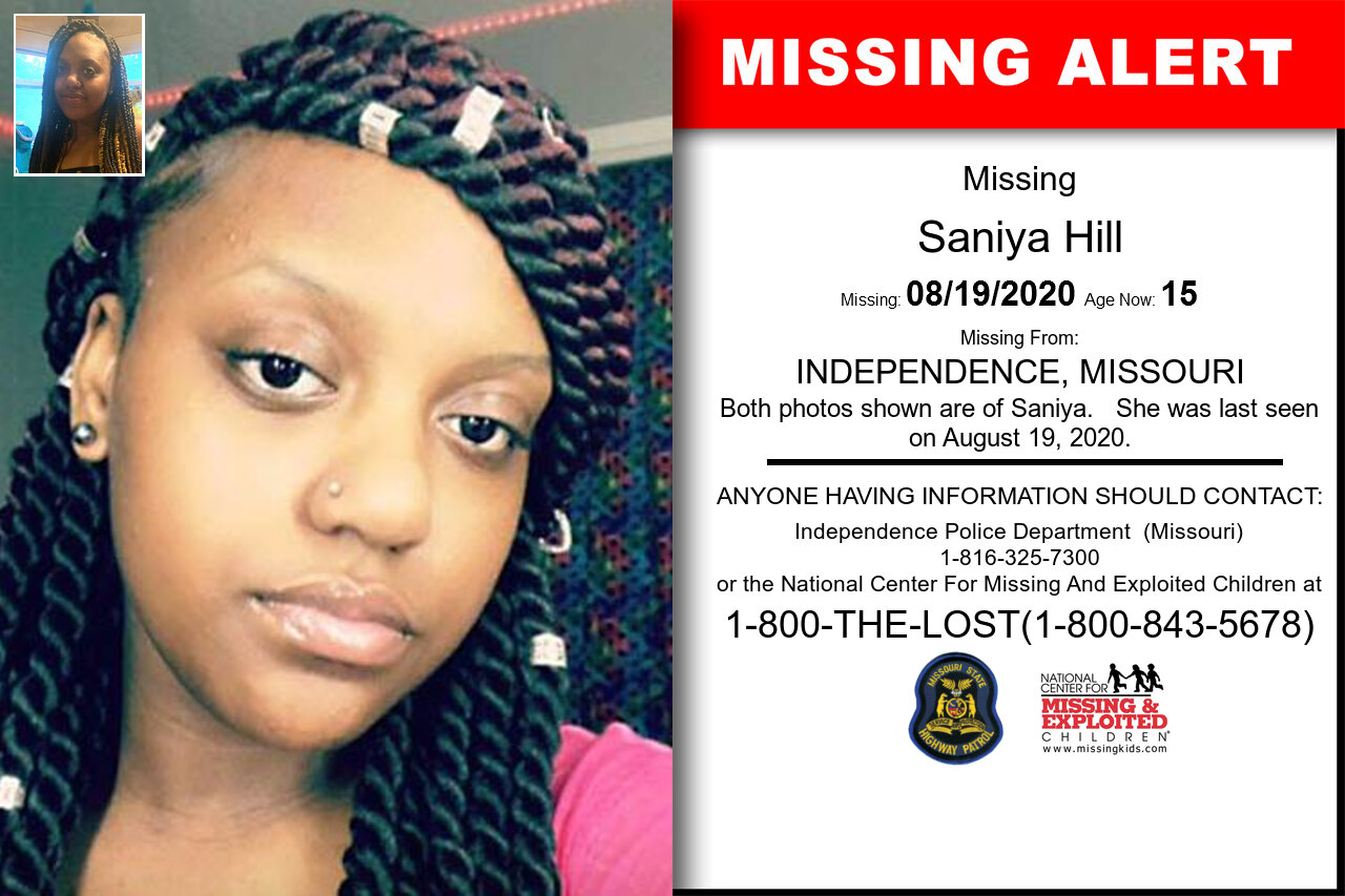 Saniya_Hill missing in Missouri