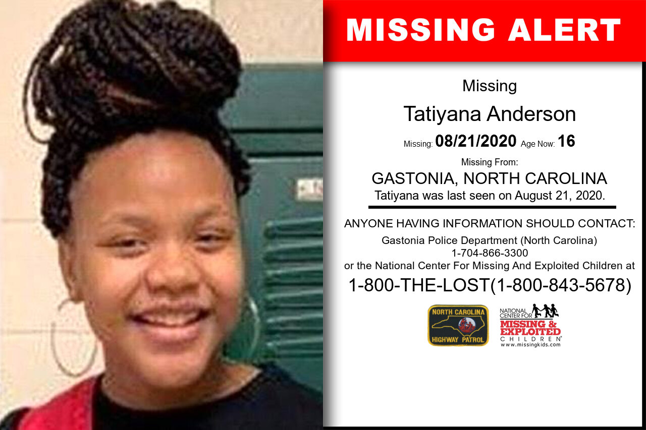 Tatiyana_Anderson missing in North_Carolina