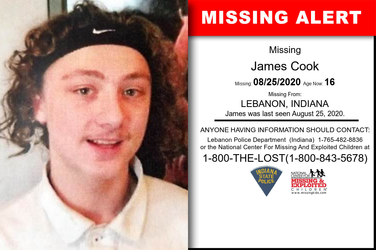 James_Cook missing in Indiana
