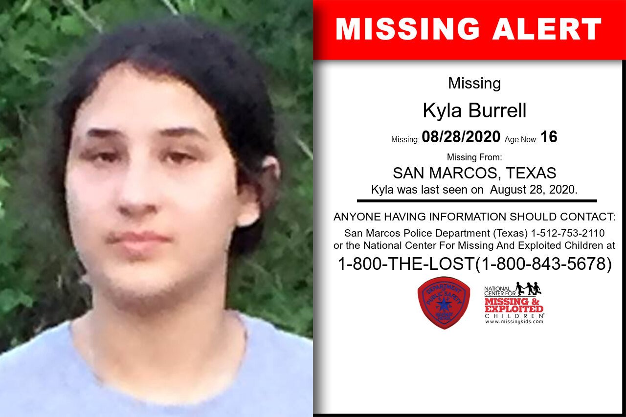 Kyla_Burrell missing in Texas