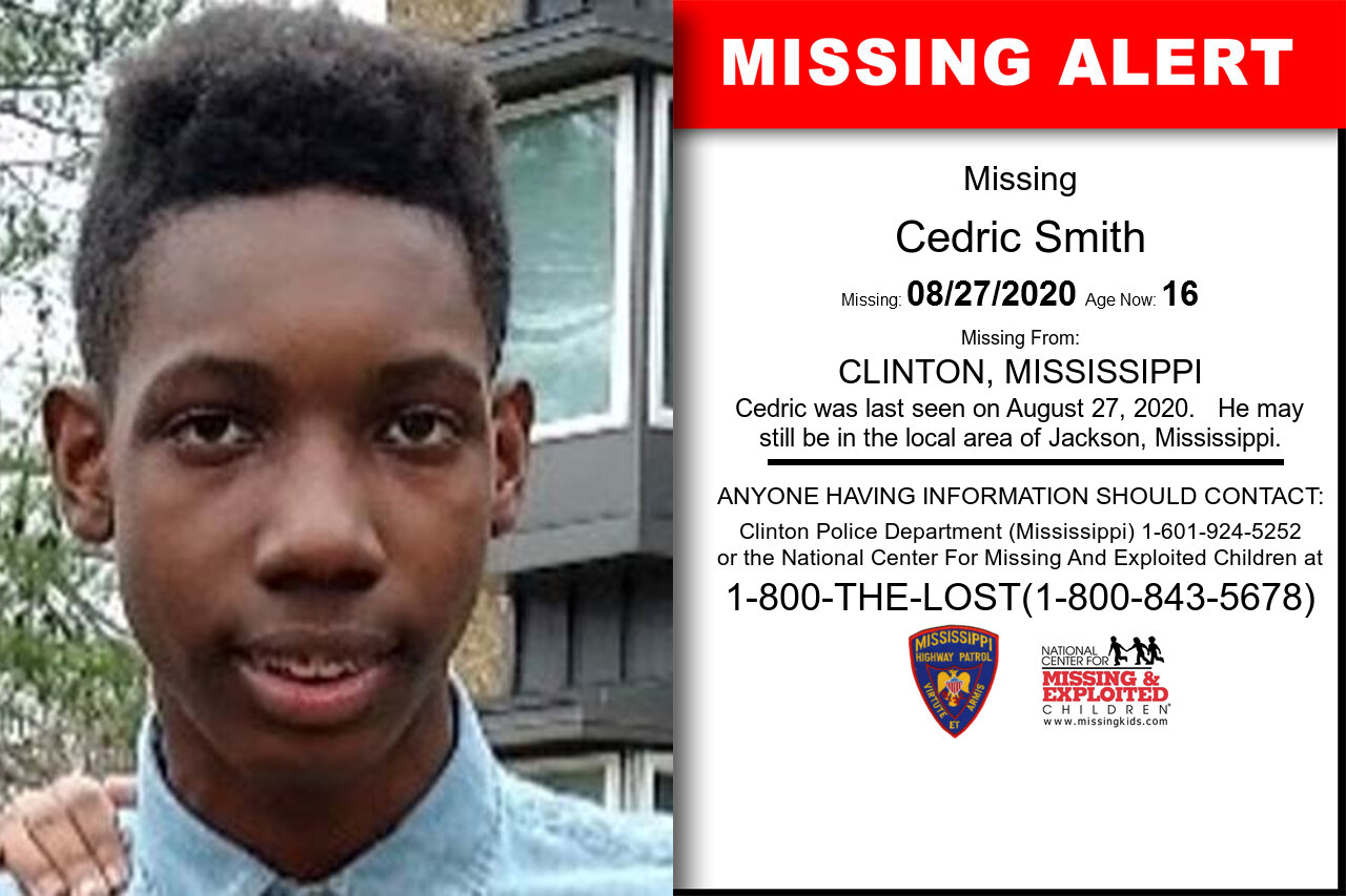 Cedric_Smith missing in Mississippi