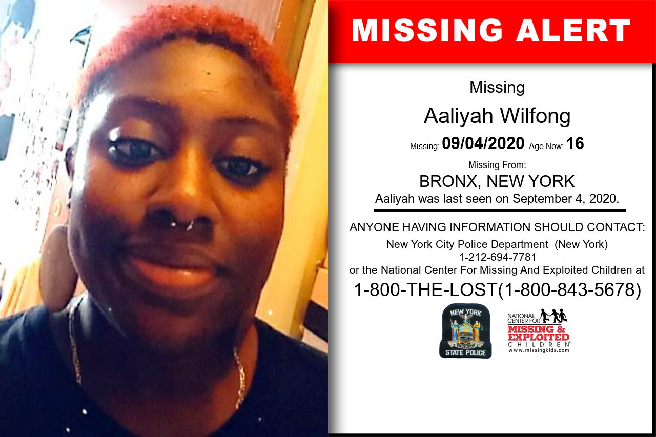 Aaliyah_Wilfong missing in New_York