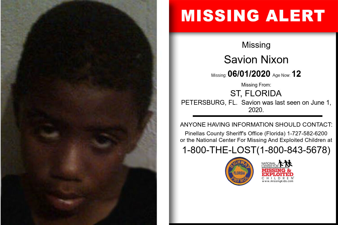 Savion_Nixon missing in Florida