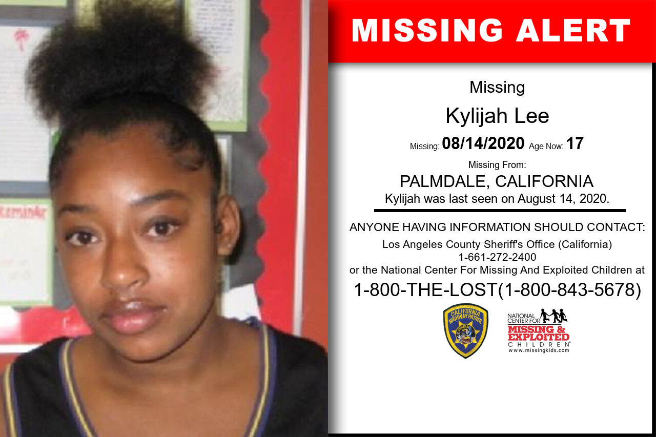 Kylijah_Lee missing in California
