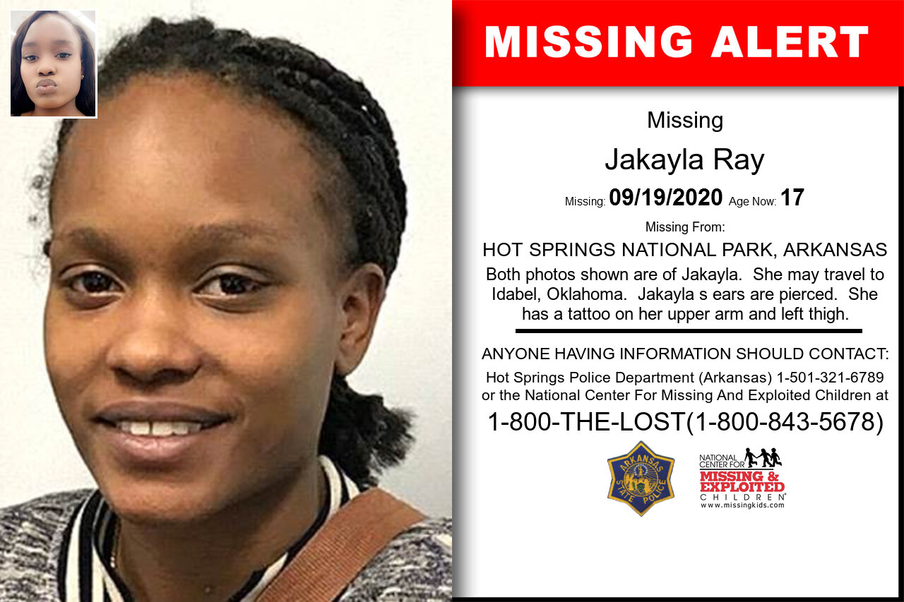 Jakayla_Ray missing in Arkansas