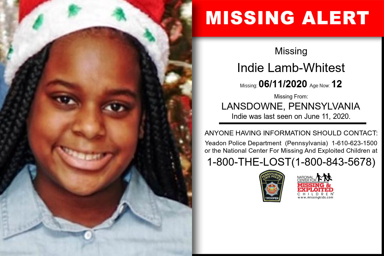 Indie_Lamb-Whitest missing in Pennsylvania