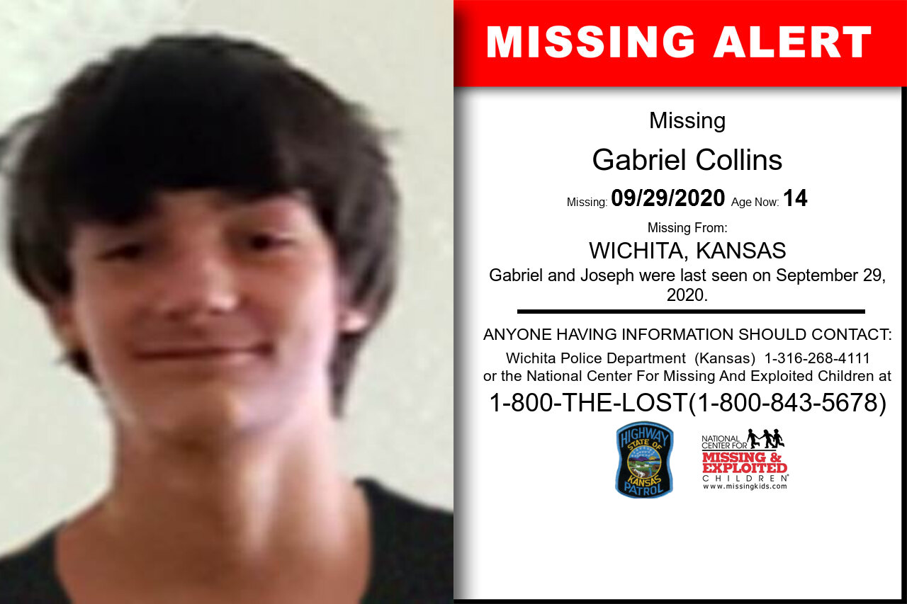Gabriel_Collins missing in Kansas