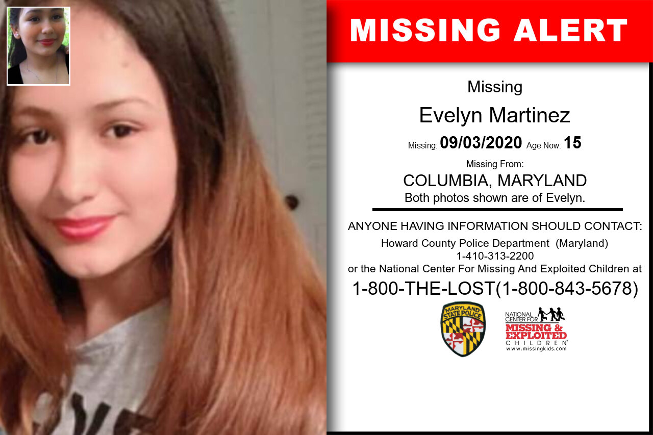 Evelyn_Martinez missing in Maryland