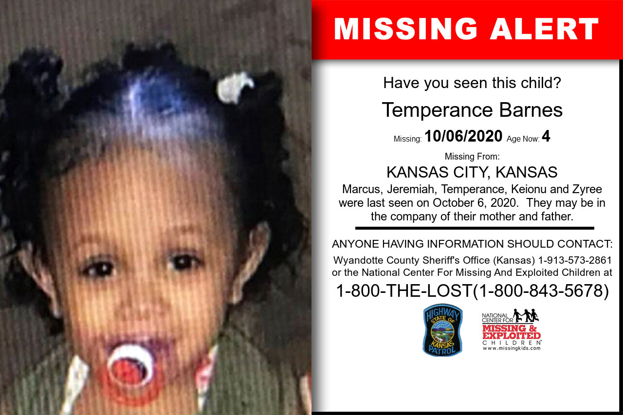 Temperance_Barnes missing in Kansas