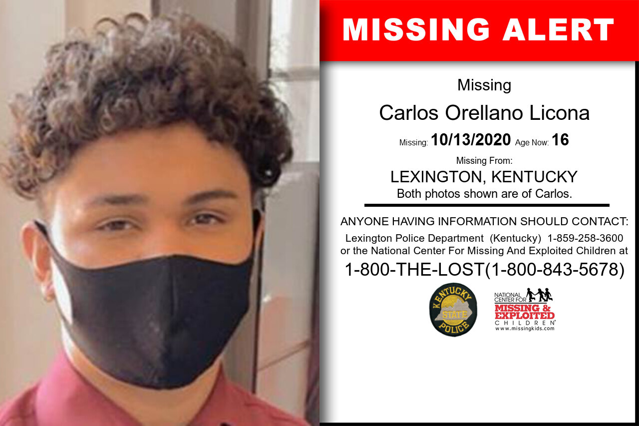 Carlos_Orellano_Licona missing in Kentucky