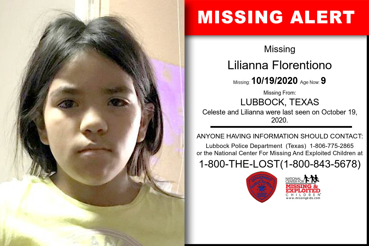 Lilianna_Florentiono missing in Texas