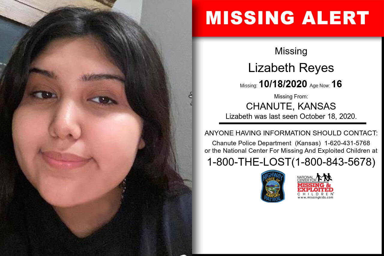 Lizabeth_Reyes missing in Kansas