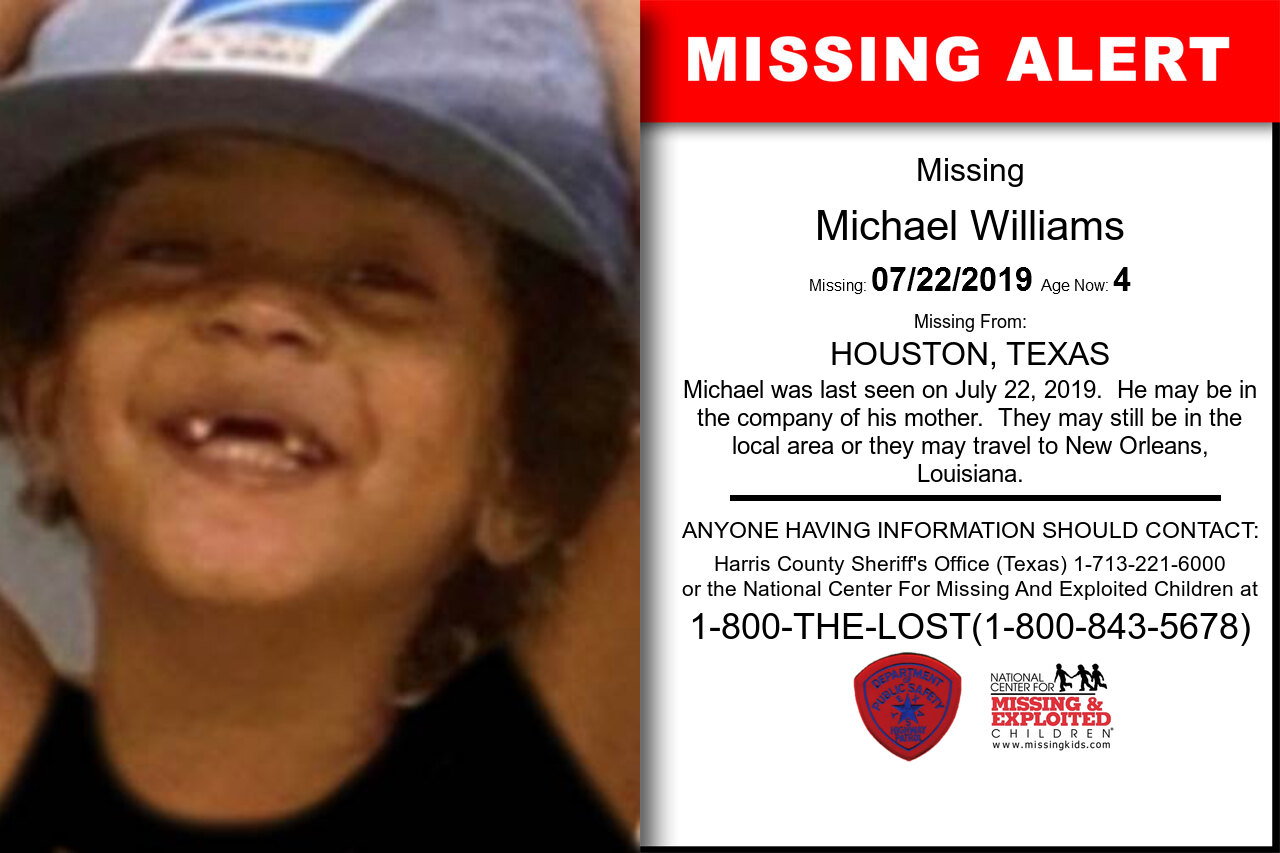 Michael_Williams missing in Texas