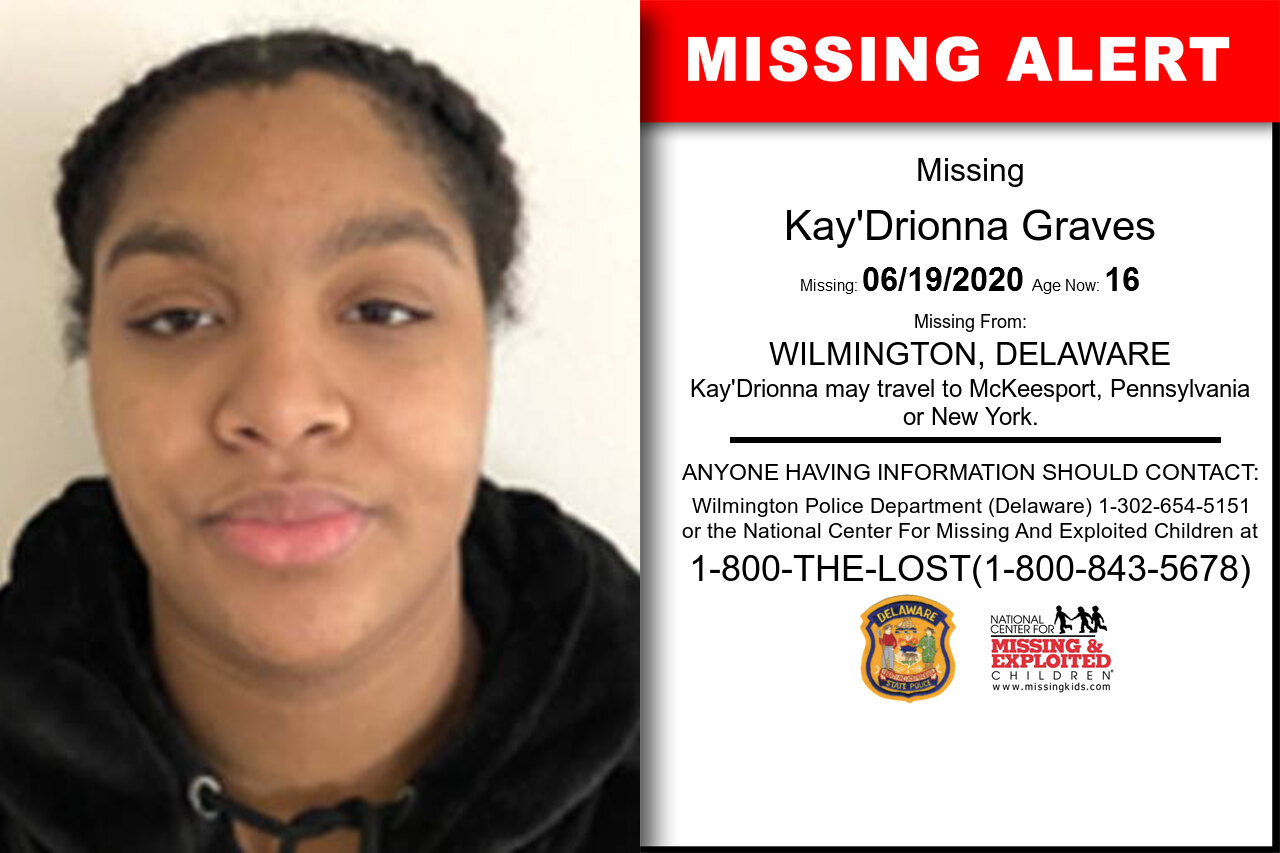 Kay'Drionna_Graves missing in Delaware