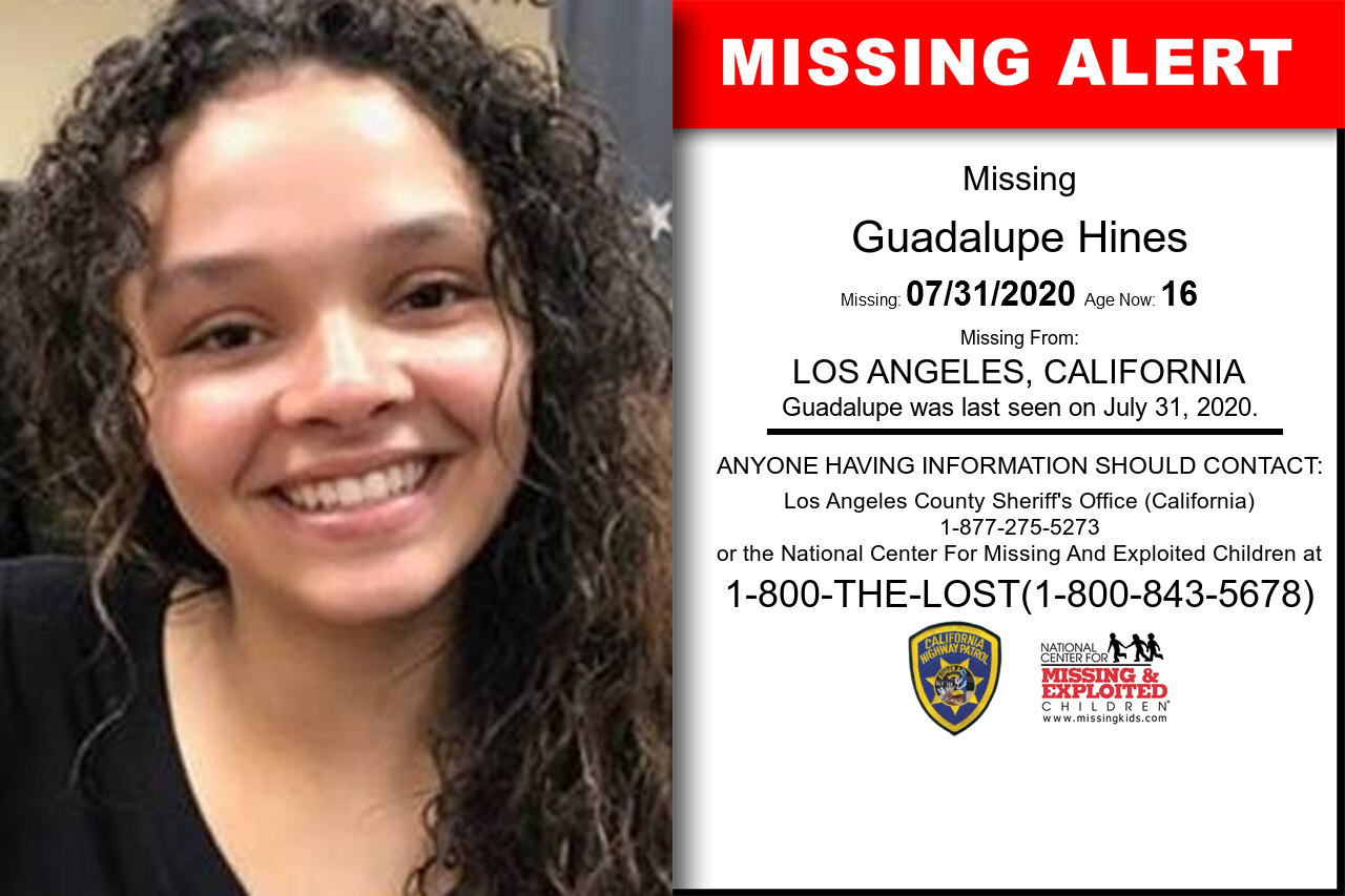 Guadalupe_Hines missing in California