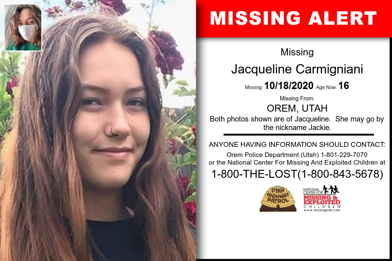 Jacqueline_Carmigniani missing in Utah