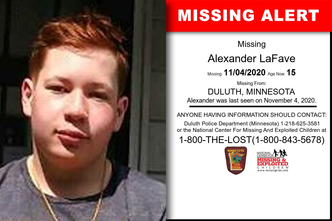 Alexander_LaFave missing in Minnesota