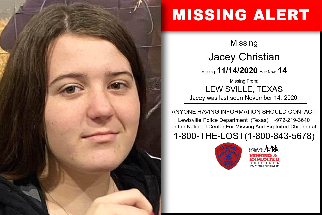 Jacey_Christian missing in Texas