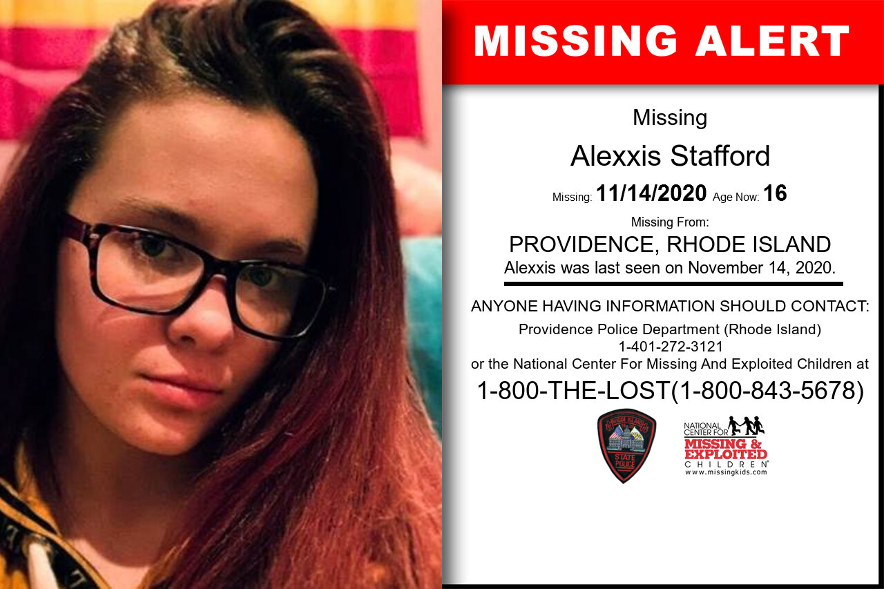 Alexxis_Stafford missing in Rhode_Island