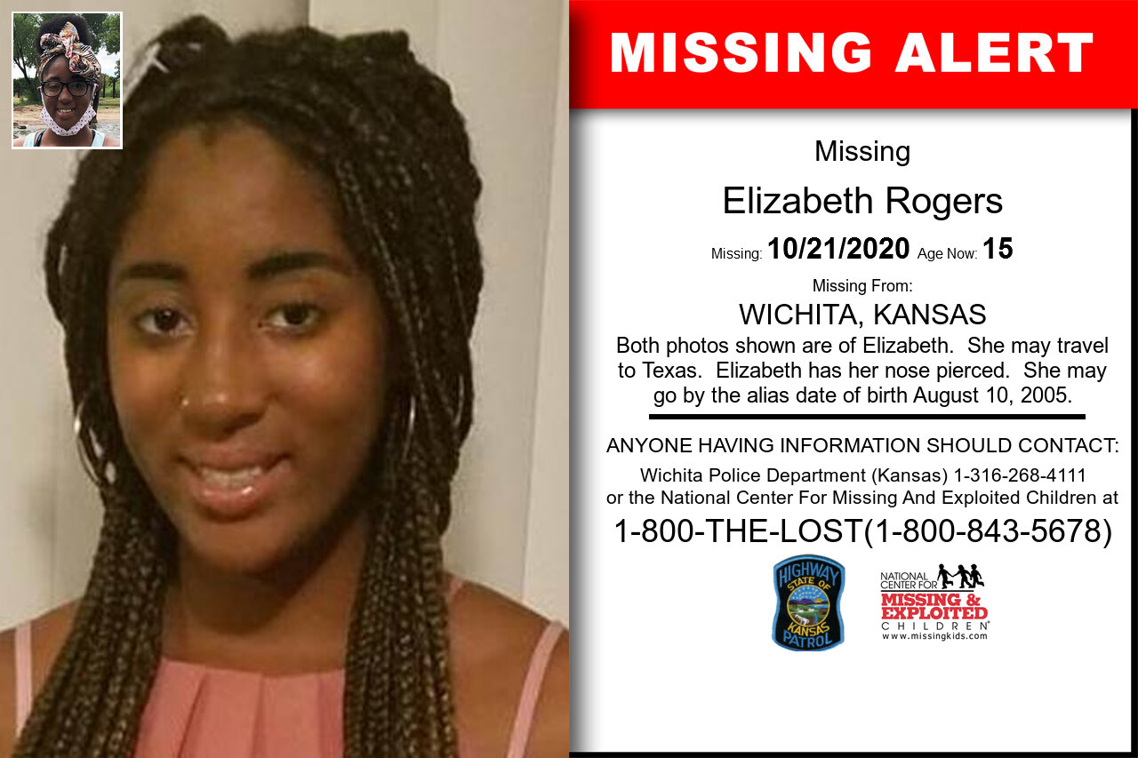 Elizabeth_Rogers missing in Kansas