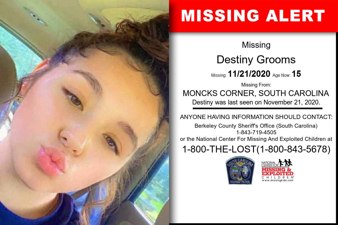 Destiny_Grooms missing in South_Carolina