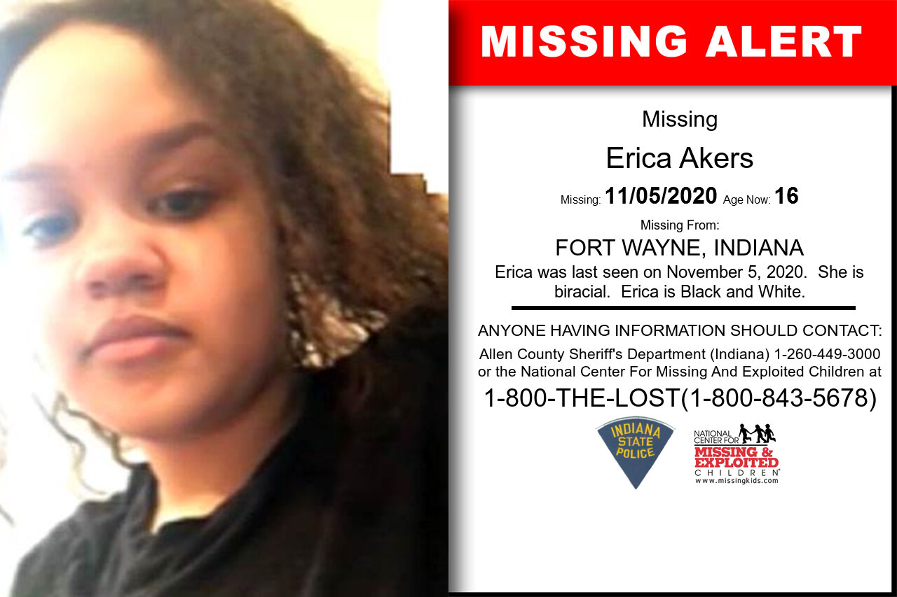 Erica_Akers missing in Indiana
