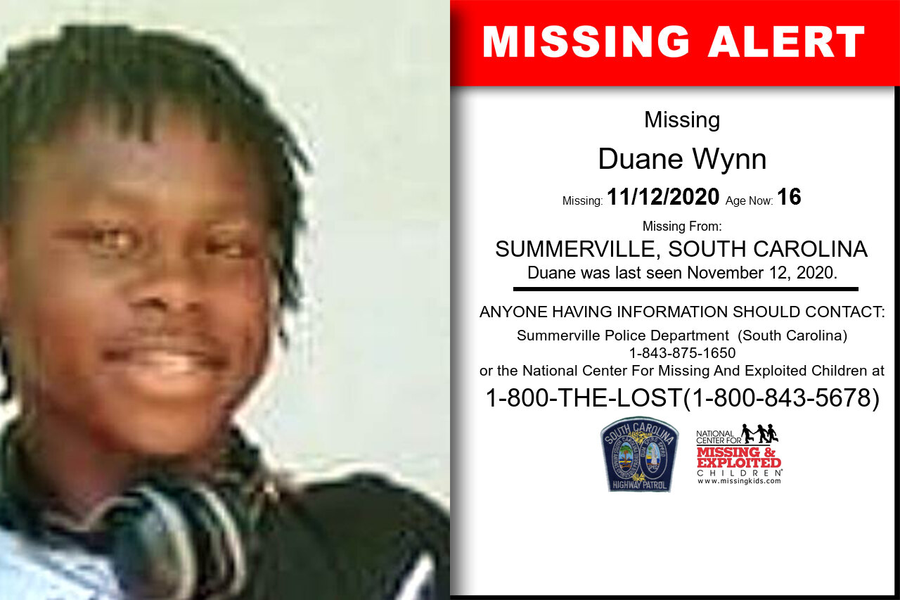 Duane_Wynn missing in South_Carolina