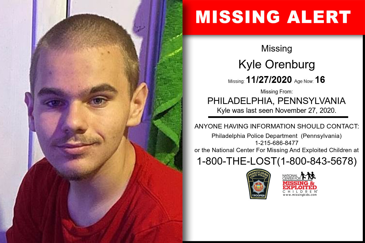 Kyle_Orenburg missing in Pennsylvania