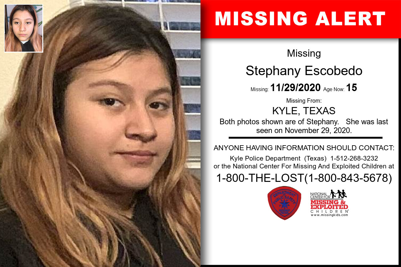 Stephany_Escobedo missing in Texas
