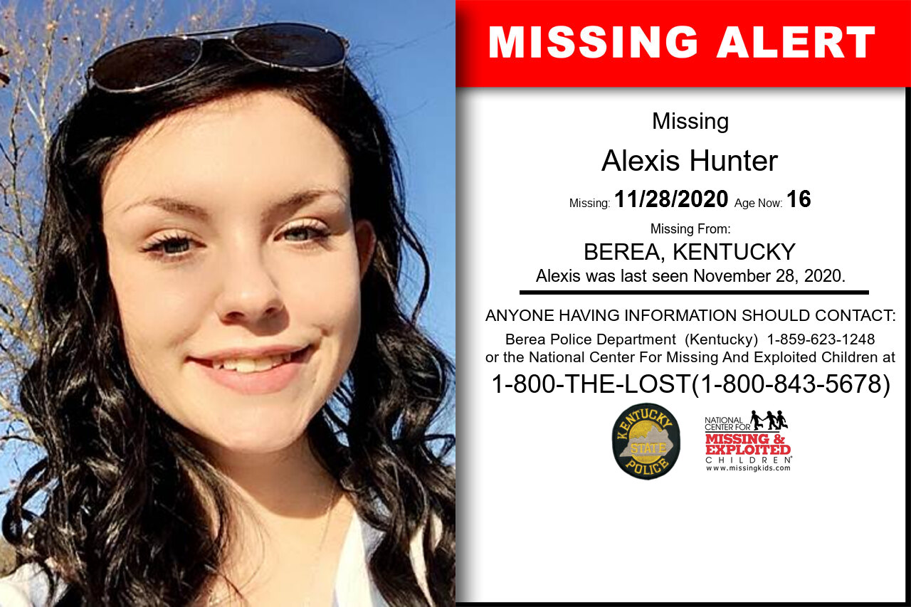 Alexis_Hunter missing in Kentucky
