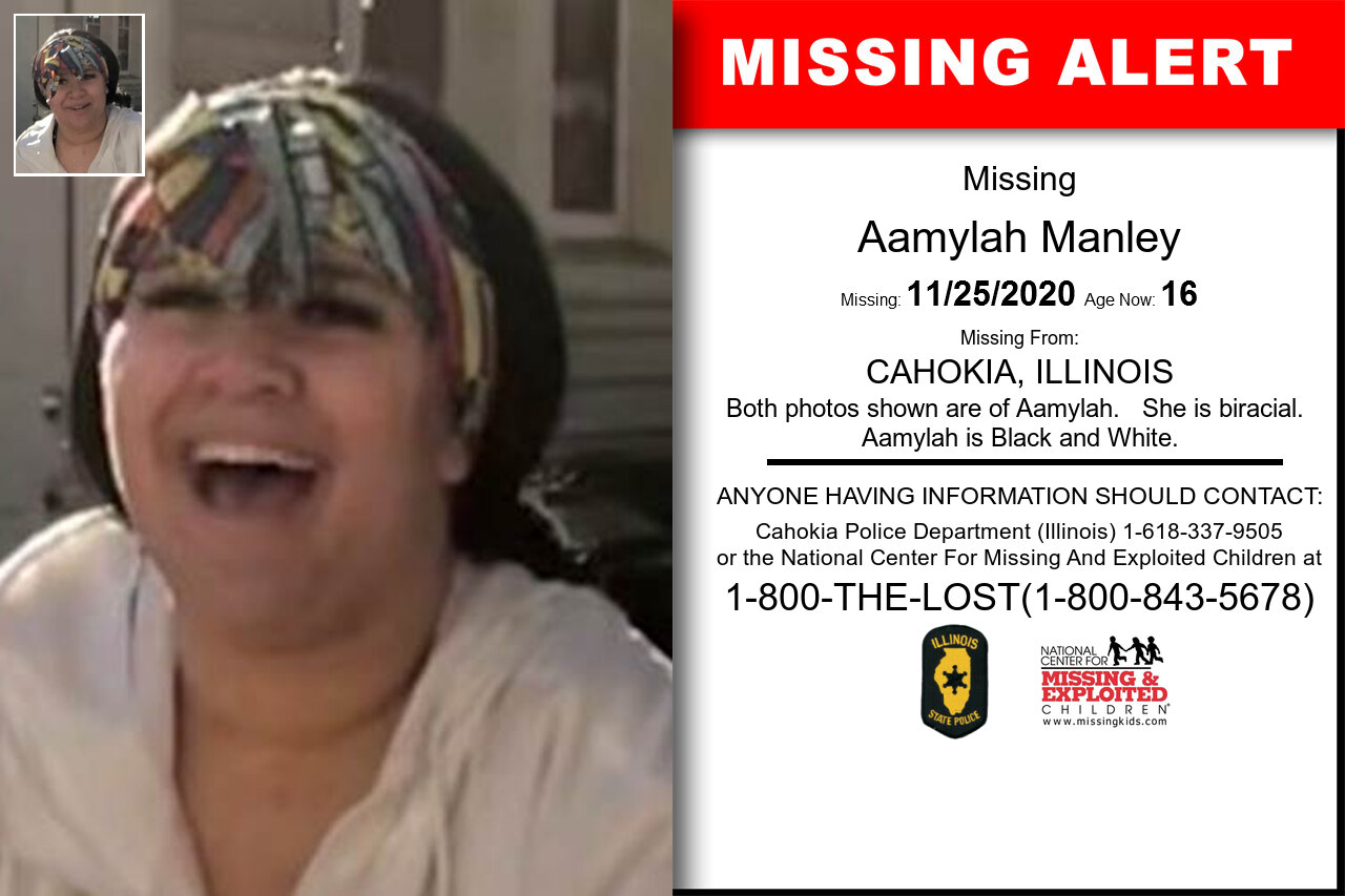 Aamylah_Manley missing in Illinois