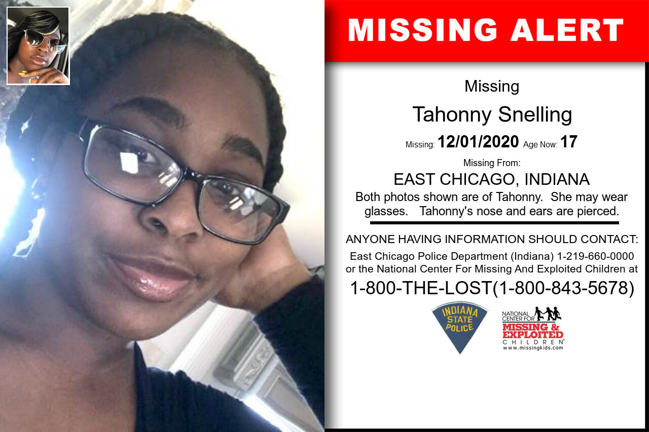 Tahonny_Snelling missing in Indiana