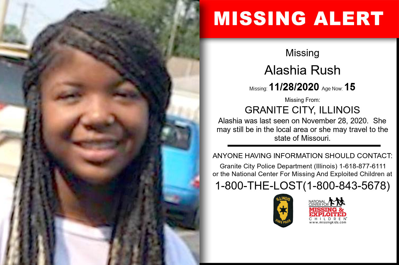 Alashia_Rush missing in Illinois