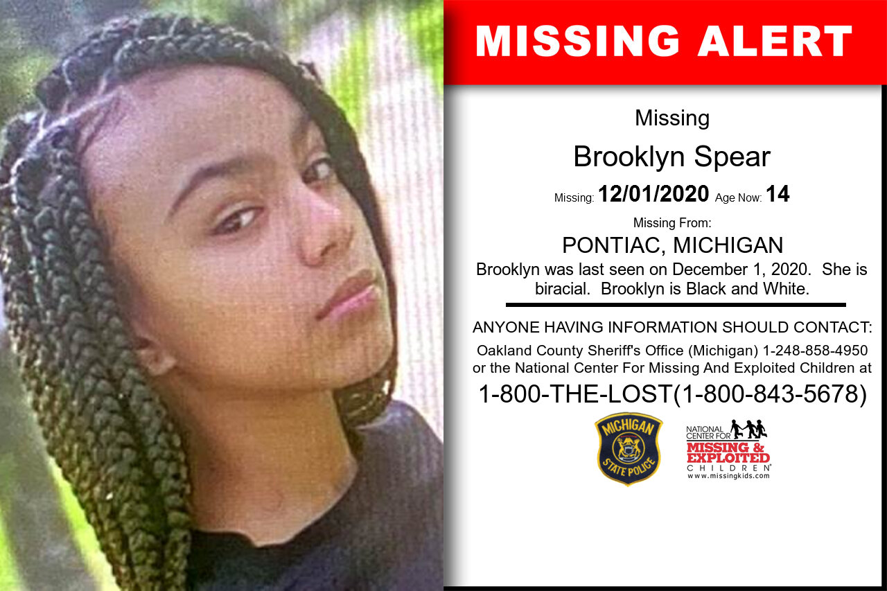 Brooklyn_Spear missing in Michigan