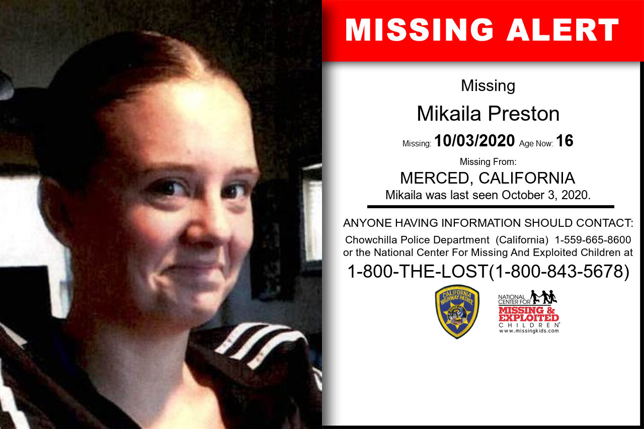 Mikaila_Preston missing in California